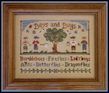 Country Cottage Needleworks - Boys & Bugs