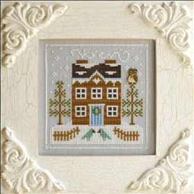 Country Cottage Needleworks - Frosty Forest Part 5 - Bluebird Cabin