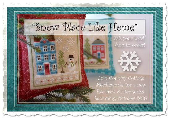 Country Cottage Needleworks' Snow Place Like Home Project of the Month Club