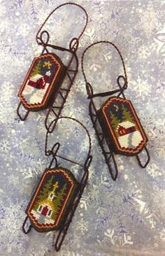 Foxwood Crossings - Sled Ornaments - Snow Country