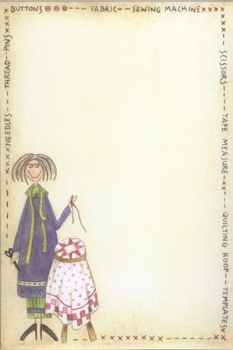 Hatched and Patched - Sewing Angel Notepad