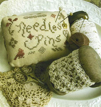 Homespun Elegance - Needles and Pins Pincushion