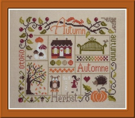 Jardin prive sampler automne the patchwork rabbit for Jardin prive
