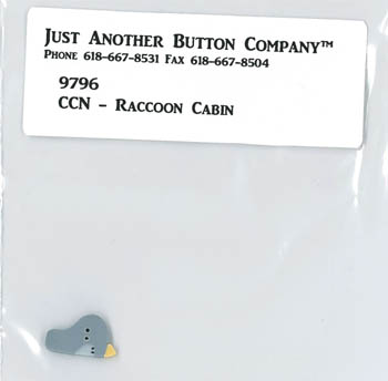 Just Another Button Company - Frosty Forest Part 1 - Raccoon Cabin button pack