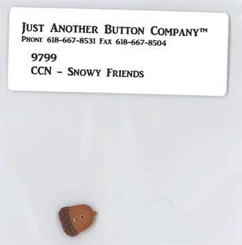 Just Another Button Company - Frosty Forest Part 4 - Snowy Friends button pack