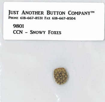 Just Another Button Company - Frosty Forest Part 6 - Snowy Foxes button pack