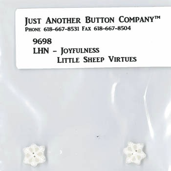 Just Another Button Company - Little Sheep Virtues #12 - Joyfulness Button Pack