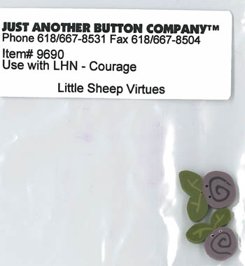 Just Another Button Company - Little Sheep Virtues #4 - Courage Button Pack