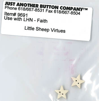 Just Another Button Company - Little Sheep Virtues #5 - Faith Button Pack