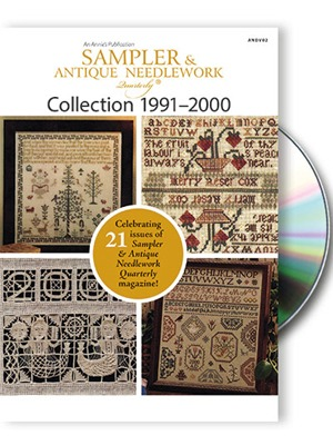 Just Cross Stitch Magazine - Sampler and Antique Needlework Quarterly 1991-2000 DVD