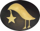 Kelmscott Designs - Folkart Crow with Star Needleminder