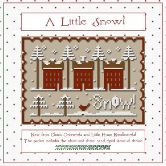Little House Needleworks - A Little Snow floss pack
