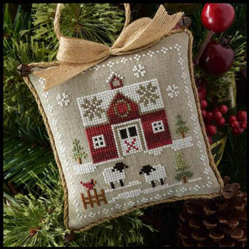 Little House Needleworks - Farmhouse Christmas 1 - Little Red Barn