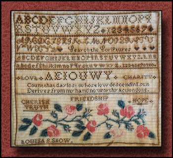 Little House Needleworks - Louisa B Snow Sampler