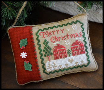 Little House Needleworks - Merry Christmas Pillow