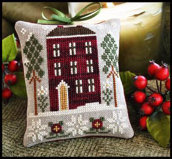 Little House Needleworks - Red House in Winter