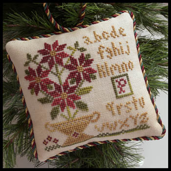 Little House Needleworks - Sampler Tree 8 - Potted Poinsettia