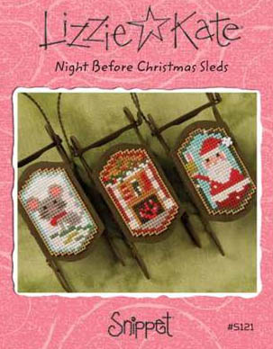 Lizzie*Kate - Night Before Christmas Sleds