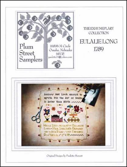 Plum Street Samplers - Eulalie Long 1789