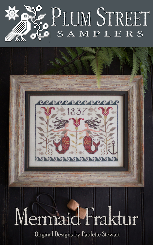Plum Street Samplers - Mermaid Fraktur