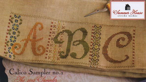 Summer House Stitche Workes - Calico Sampler #1 - ABC