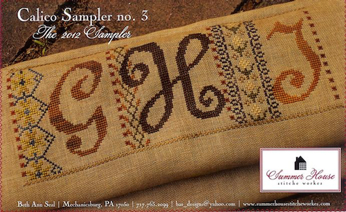 Summer House Stitche Workes - Calico Sampler #3 - GHI