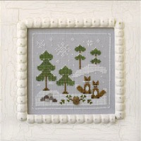 Country Cottage Needleworks - Frosty Forest Part 6 - Snowy Foxes