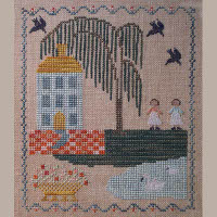 Dames of the Needle - Blue House Sampler