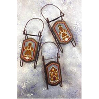 Foxwood Crossings - Sled Ornaments - Bread Sleds