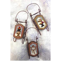 Foxwood Crossings - Sled Ornaments - Snow Grateful