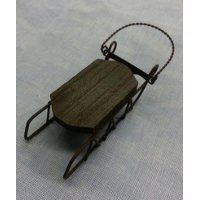 Foxwood Crossings - Wooden Sled Ornament