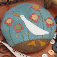 Hatched and Patched - Gilroy the Goose Pincushion