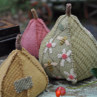 Hatched and Patched - Pear Tree Pincushion