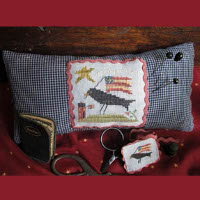 Homespun Elegance - Crow Patriotic Needle Necessaires