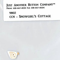 Just Another Button Company - Frosty Forest Part 7 - Snowgirl's Cottage button pack