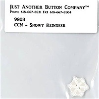 Just Another Button Company - Frosty Forest Part 8 - Snowy Reindeer button pack