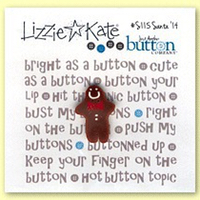 Lizzie Kate Jolly Round and Kind - Santa 2014 Button Pack