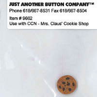 Just Another Button Company - Santa's Village #4 - Mrs Claus' Cookie Shop Button Pack