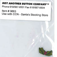 Just Another Button Company - Santa's Village #5 - Santa's Stocking Store Button Pack