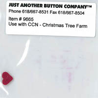 Just Another Button Company - Santa's Village #7 - Christmas Tree Farm Button Pack