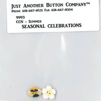 Just Another Button Company - Seasonal Celebrations - Summer button pack