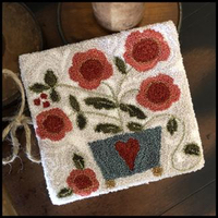 Little House Needleworks - Potted Posies punchneedle