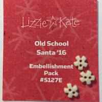 Lizzie*Kate - Old School - Santa 2016 Charm Pack