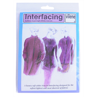 Iron-on Superlight Interfacing - White - 90cm x 50cm