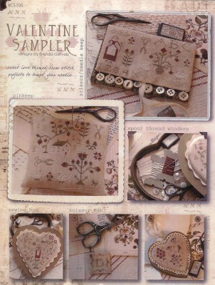 With Thy Needle and Thread - Valentine Sampler
