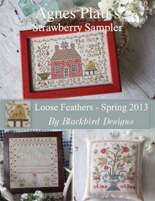 Blackbird Designs - Agnes Platt's Strawberry Sampler - Loose Feathers #48