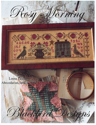 Blackbird Designs - Rosy Morning - Loose Feathers Abecedarian #9 (LF#57)