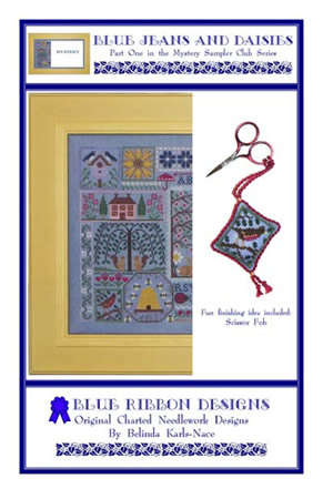 Blue Ribbon Designs - Spring Mystery Sampler - Blue Jeans and Daisies - Part 1