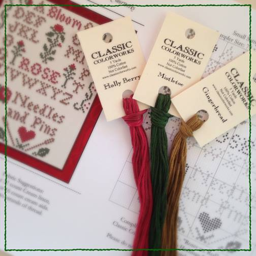 Little House Needleworks - Roses are Red floss pack