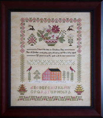 Cottage Garden Samplings - Peace on Earth Sampler